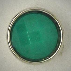 CHM031 - MINI Schmuckdruckknöpfe Stein fassetiert grün