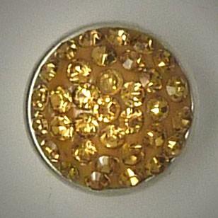 CHM042 - MINI Schmuckdruckknöpfe viele Steine hell braun