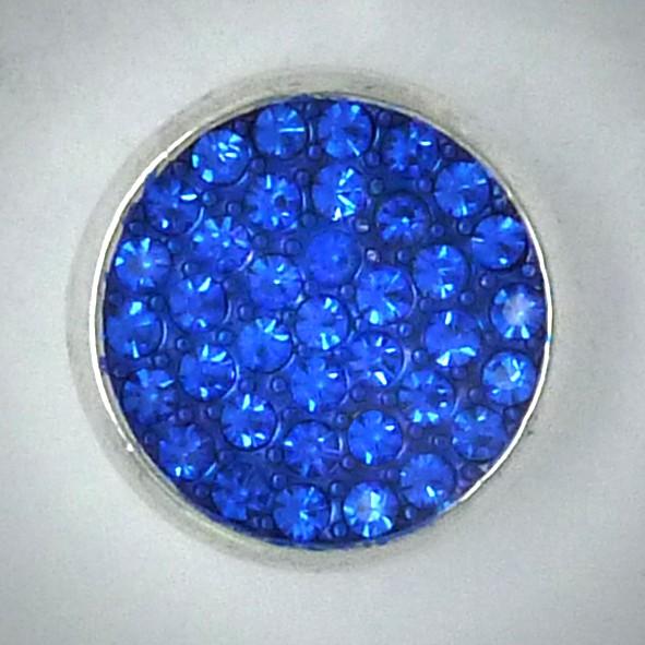 CH038 Schmuck Druckknöpfe viele Steine blau