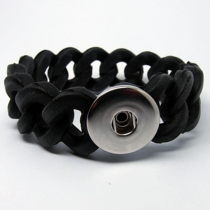 CHA013 - Armbänder für 1 Schmuckdruckknöpfe Gliederarmband aus Silicon