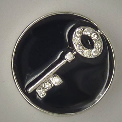 CH017 - Schmuck Druckknöpfe Schlüssel mit Steinen