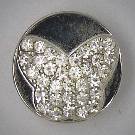CH040 - Schmuck Druckknöpfe Schmetterling viele Steine
