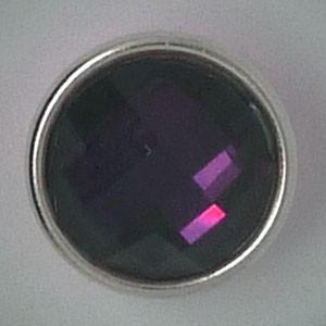 CHM093 - MINI Schmuckdruckknöpfe facettierter Stein aubergine