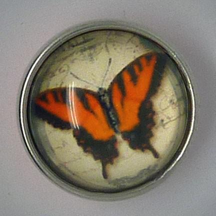CH229 - Schmuck Druckknöpfe Schmetterling orange
