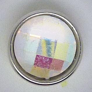 CHM115 - MINI Schmuckdruckknöpfe facetierter Stein irisiert