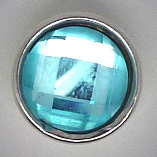 CHM117 - MINI Schmuckdruckknöpfe facetierter Stein türkis