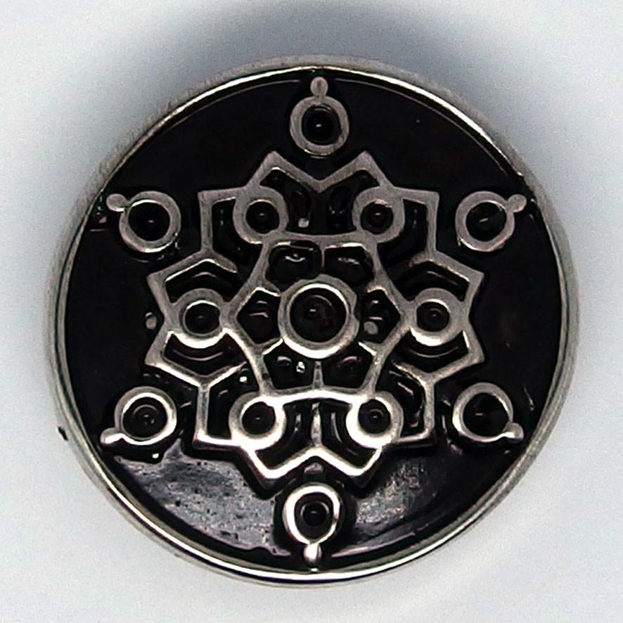 CH239b - Schmuck Druckknöpfe Ornament schwarz