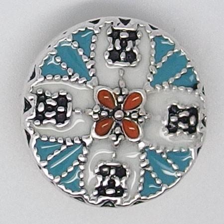 CH109 - Schmuck Druckknöpfe Mandala blüten