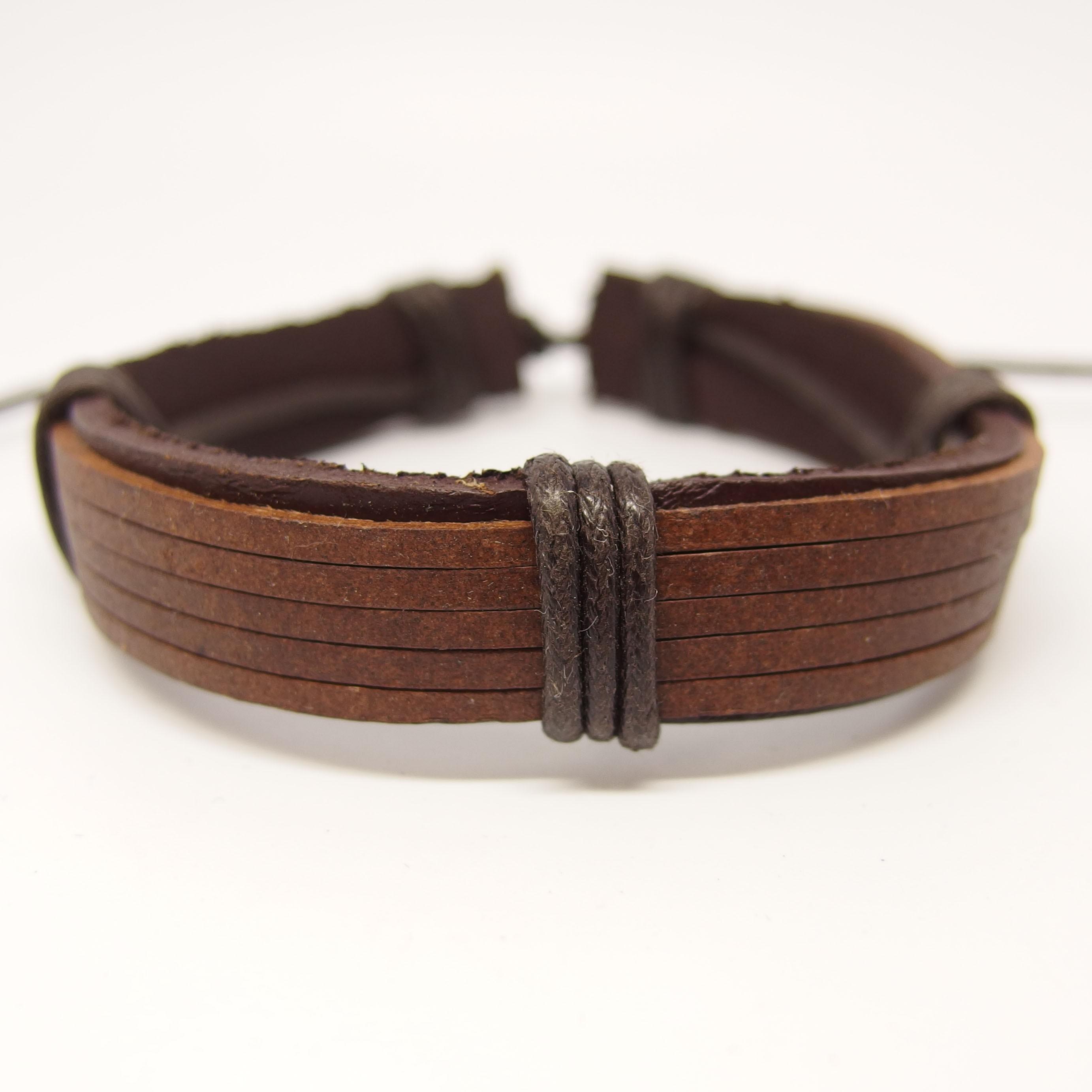 AB110 - Leder Armbänder braun