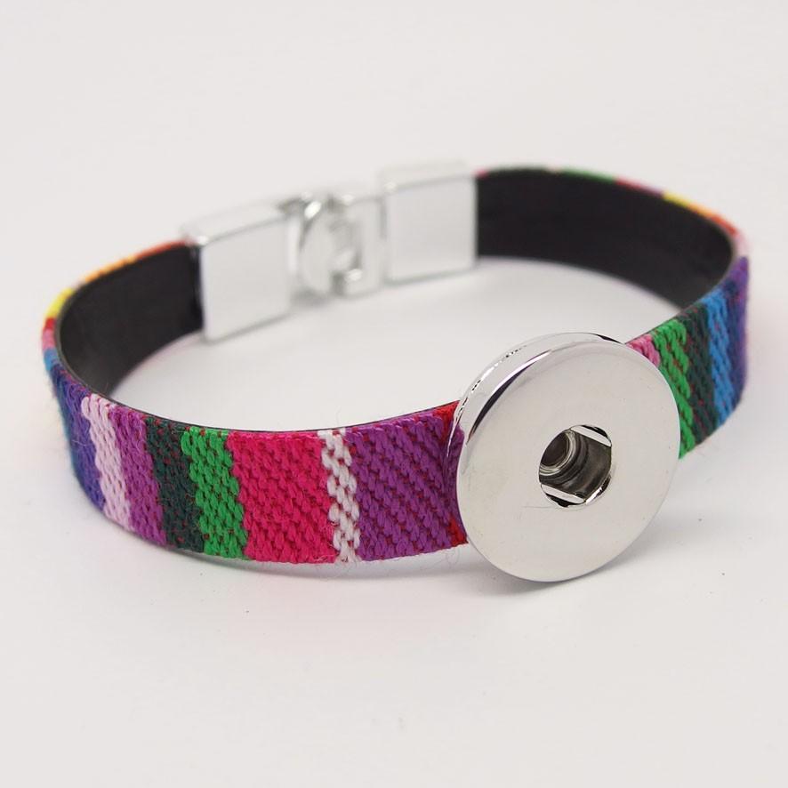 CHA012b - Armbänder für Schmuckdruckknöpfe ethno bunt