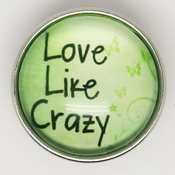 CH180a - Schmuck Druckknöpfe Love Like Crazy