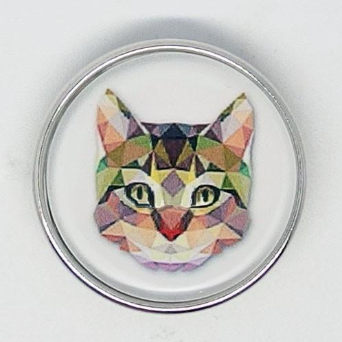 CH093 - Schmuck Druckknöpfe Katzenkopf