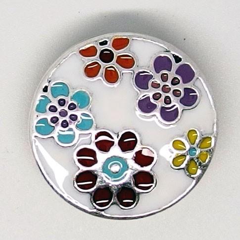 CH042a - Schmuck Druckknöpfe bunte Blüten