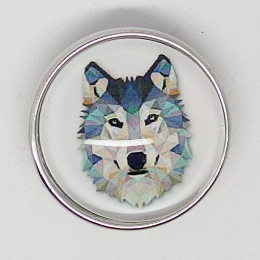 CH112 - Schmuck Druckknöpfe Wolf
