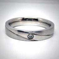 STR001 Ringe aus Edelstahl 1 Stein,matt u. glänzenquer gestreift
