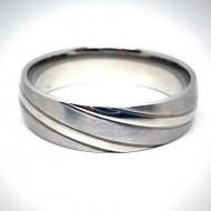 STR015 Ringe aus Edelstahl matt u. glänzend quer gestreift