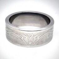 STR022 Ringe aus Edelstahl Tribal