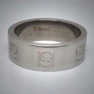 STR023 Ringe aus Edelstahl Ying Yang