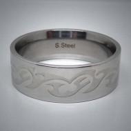 STR029 Ringe aus Edelstahl Tribal matt