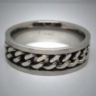 STR048 Ringe aus Edelstahl m. Kette
