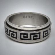 STR056 Ringe aus Edelstahl Welle spinner