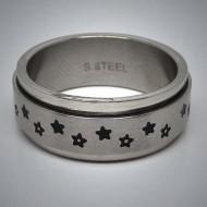 STR057 Ringe aus Edelstahl Sterne spinner