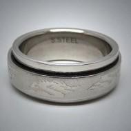 STR058 Ringe aus Edelstahl Drache spinner