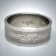 STR062 Ringe aus Edelstahl Tribal