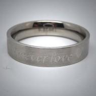 STR064 Ringe aus Edelstahl matt graviert forever love