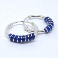 CR074 Creolen mit Spirale blau 14mm