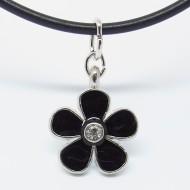KC015 - Modeschmuck Ketten Blüte schwarz