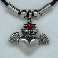MK108 Ketten Herz mit Krone und Kreuz (Claddagh)