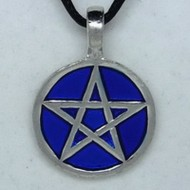 MK117 Ketten Pentagramm blau