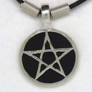 MK131 Ketten Pentagramm schwarz