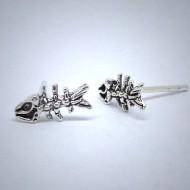 OS011 Ohrstecker aus Silber Fishbone