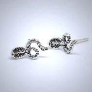 OS012 Ohrstecker aus Silber Cobra