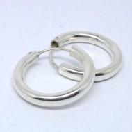 CR049 Creolen aus Silber schlicht 2cm