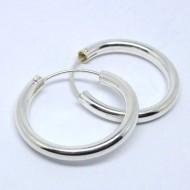 CR050 Creolen aus Silber schlicht 2,3cm