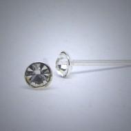 OS136  Ohrstecker aus Silber Stein kristal