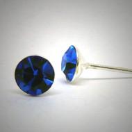 OS150 Ohrstecker aus Silber Stein dunkelblau l.