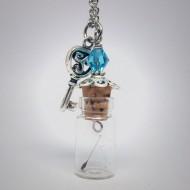 GK002 - Ketten Glasflasche mit Pusteblumensamen