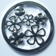 MS008 -  Sammelmedallions Blumen 33mm