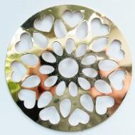 MS016 - Sammelmedallions Blüte Herzen 33mm
