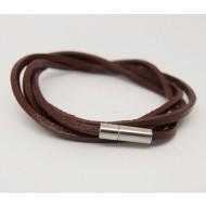 AB104 - Wickelarmband aus Leder braun