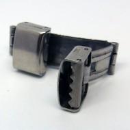 V002 - Verschüsse 12mm breit aus Edelstahl für Armbänder, Uhren etc.