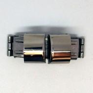V003 - Verschüsse halbrund 12mm breit aus Edelstahl für Armbänder, Uhren etc.