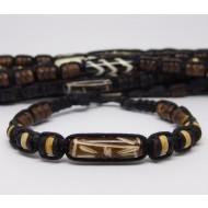 AB037 - Armbänder Makramee Knochen u. Kokos Perlen
