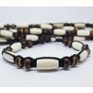 AB038 - Armbänder Makramee Knochenperlen schlicht