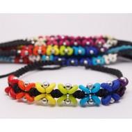 AB075 - Armbänder Makramee kl. Blümchen rainbow