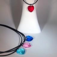 PL013 - Ketten für Kinder mit Herzen aus Kunststoff